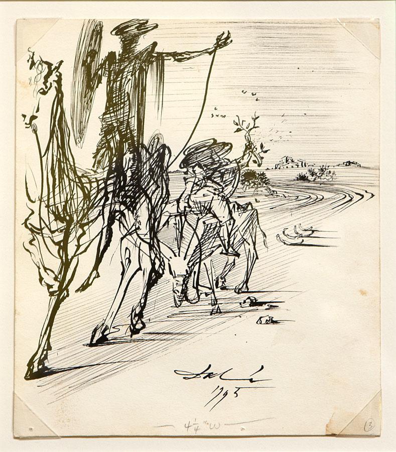 Salvador Dali. Don Quixote and Sancho Panza