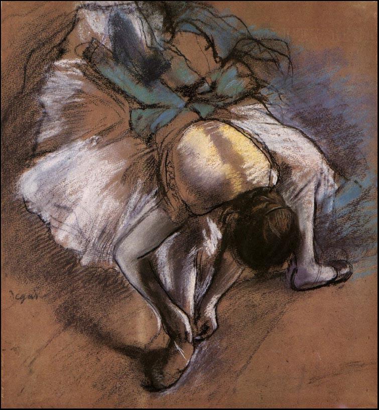 Эдгар Дега. Танцовщица поправляет свою туфельку