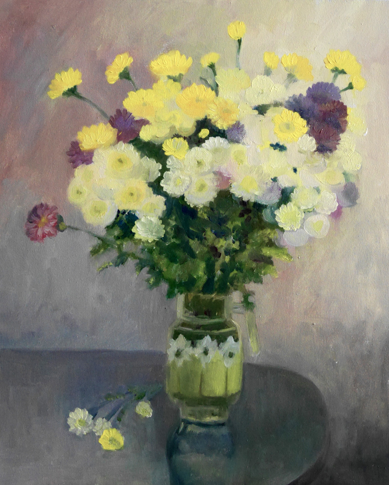 Marianna Maslova. Chrysanthemums from my mom Rai