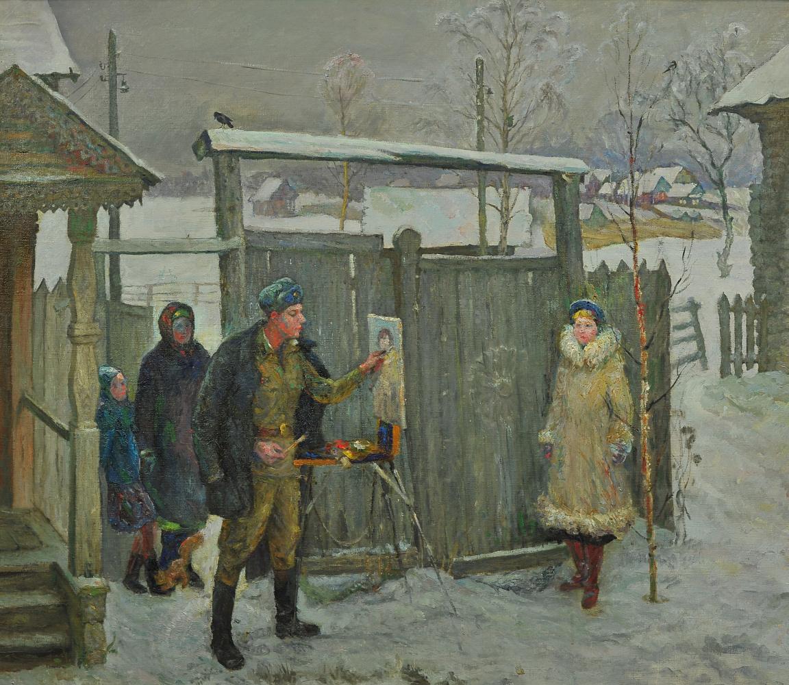 Валерий Иванович Ярош. In his native village