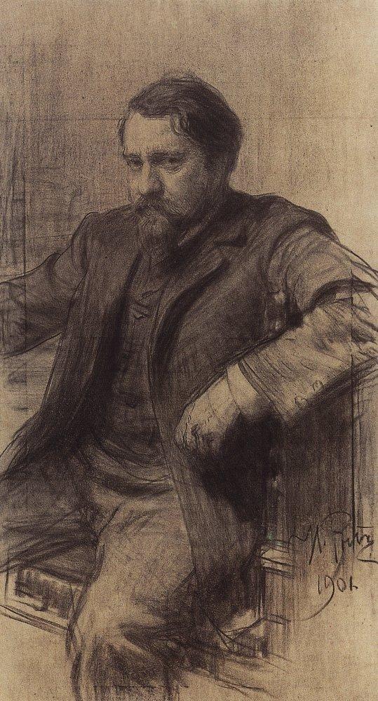 Ilya Efimovich Repin. Portrait of the artist V. A. Serov