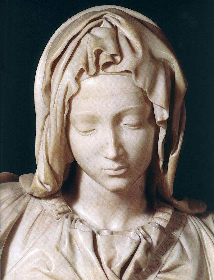 Микеланджело Буонарроти. Пьета. Фрагмент