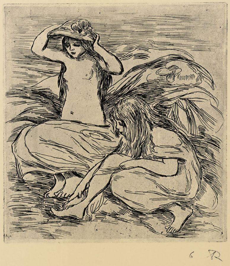 Pierre-Auguste Renoir. Two bathers