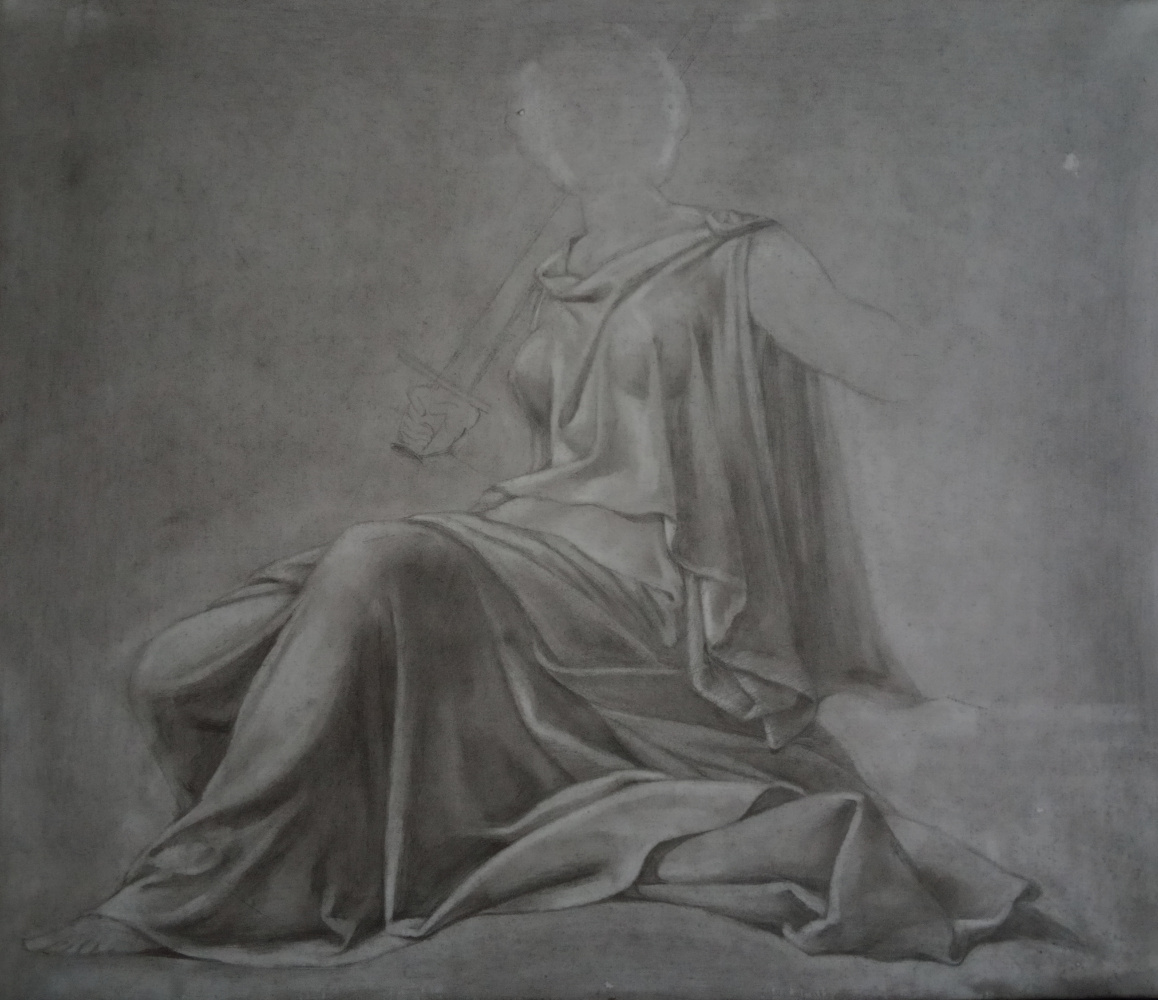 Irina Vyacheslavna Kopaneva. Free copy of a drawing by Leonardo da Vinci.