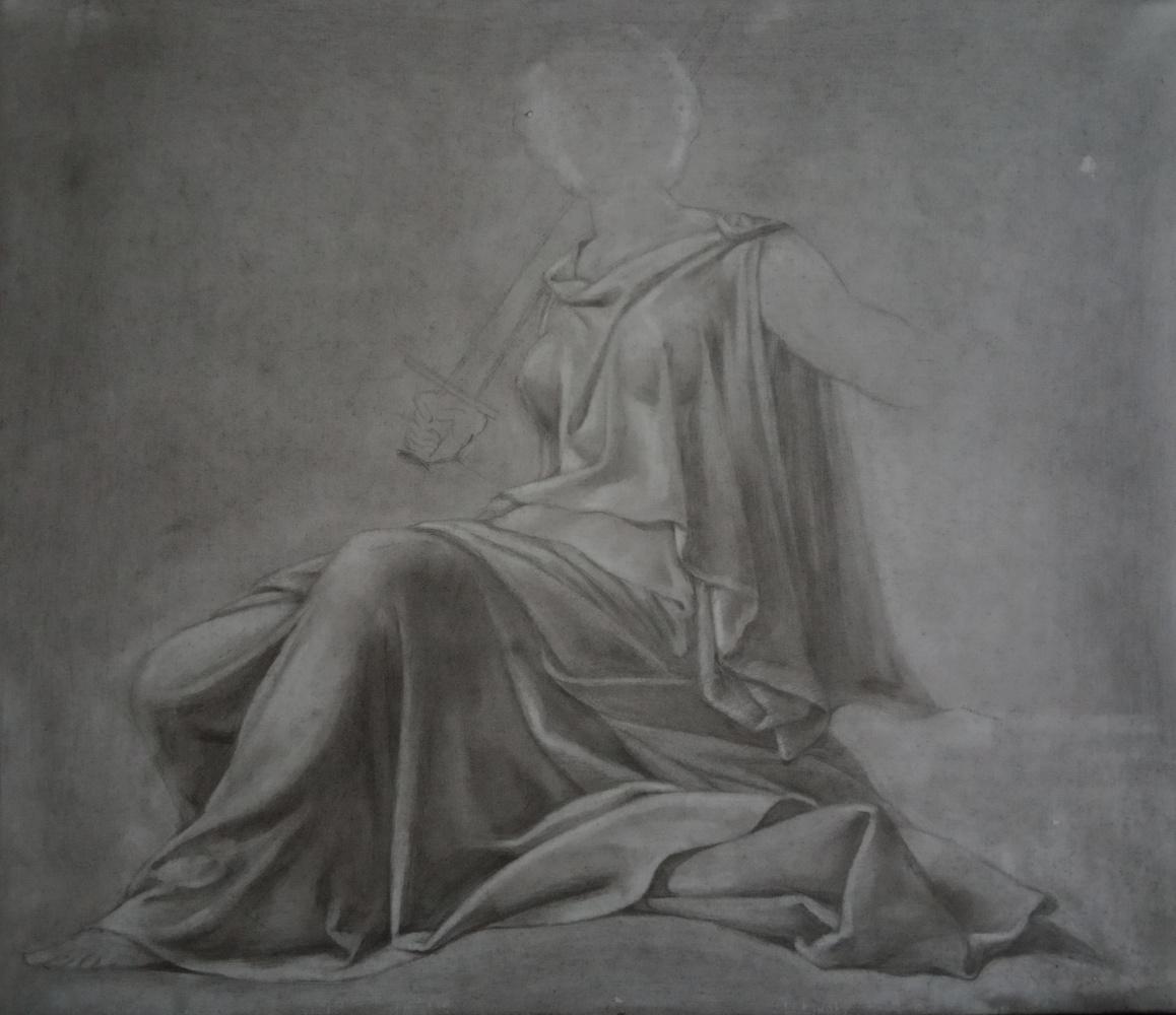 Irina Vyacheslavna Kopaneva. Free copy of a drawing by Leonardo da Vinci.