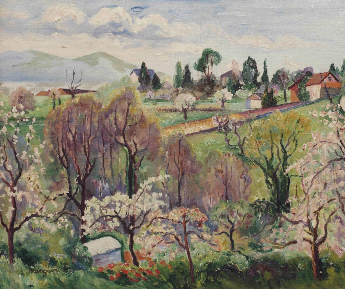 Henri Manguin. Spring landscape, Switzerland