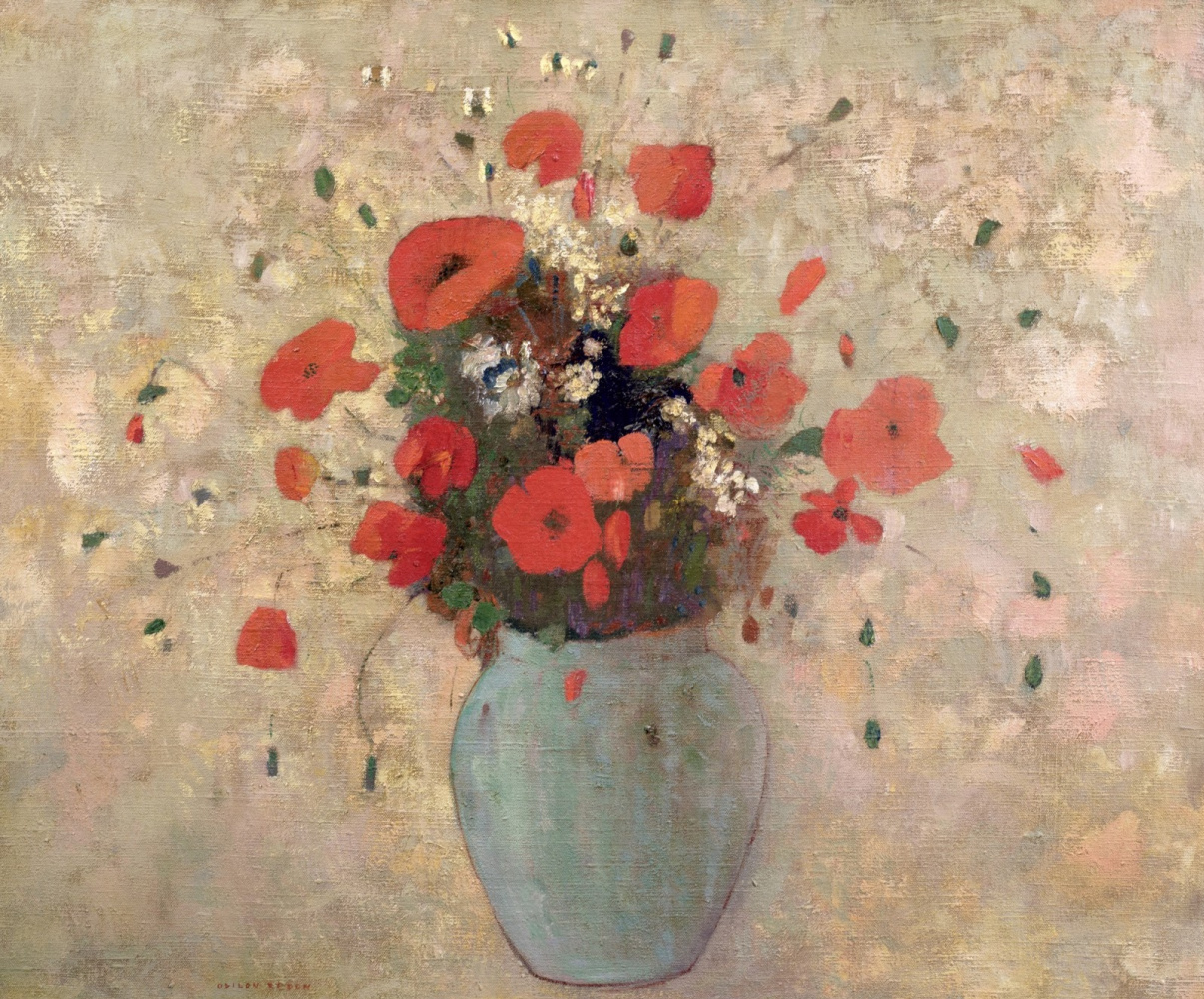 Odilon Redon. Vase with poppies