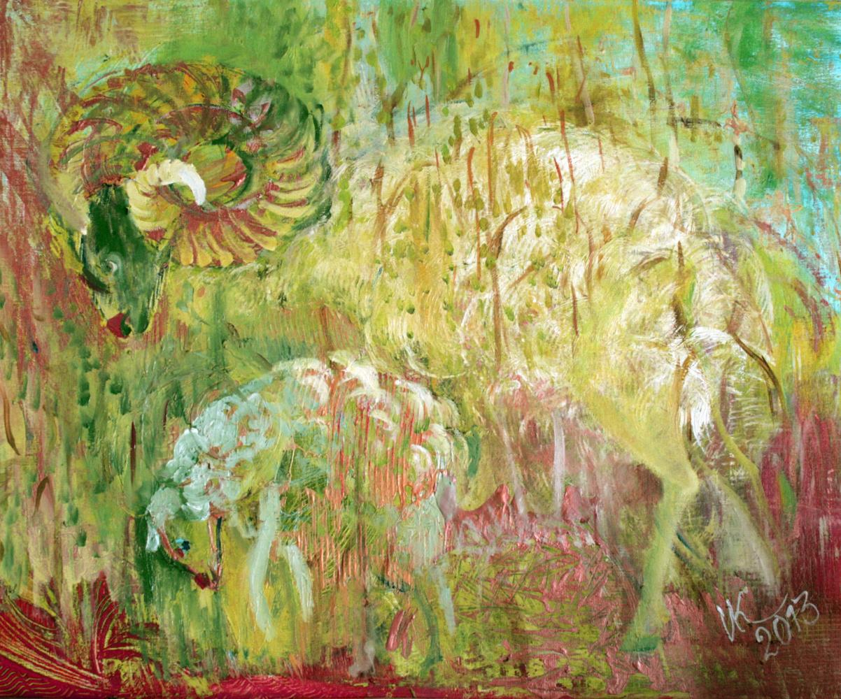 Inna Kokornikova. Spring lambs