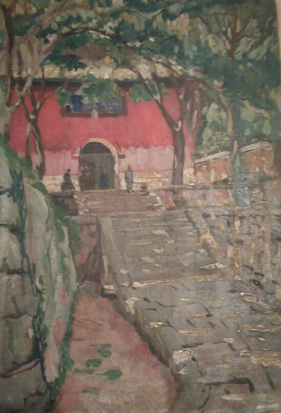 Victor Stepanovich Podgursky. The Isle of Putu, the monastery 1922