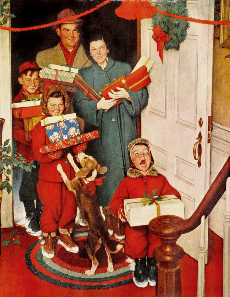 Norman Rockwell. Granny! Merry Christmas!