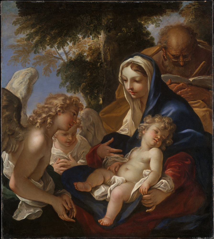 Себастьяно Риччи. Святое семейство с ангелами