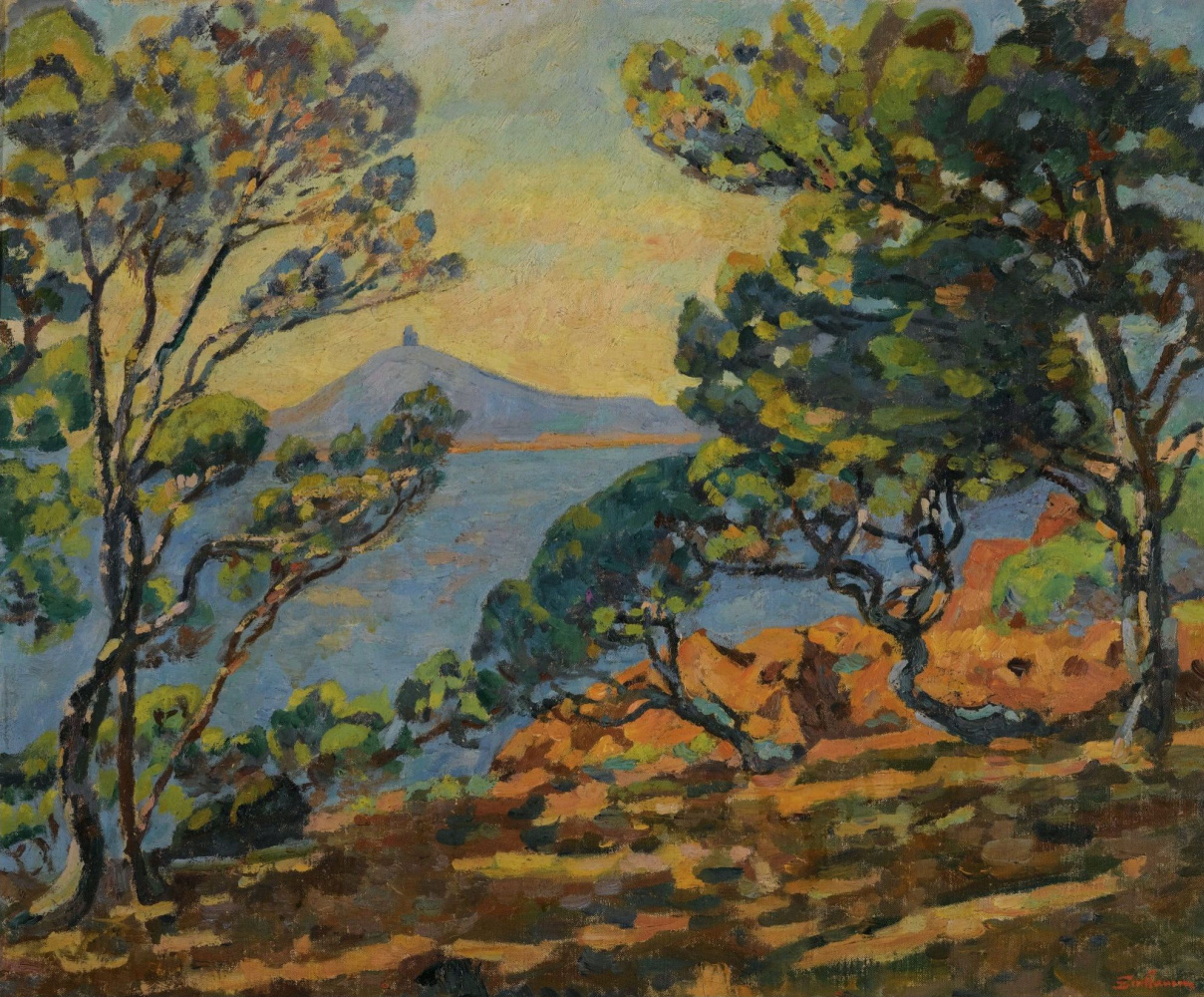 Armand Guillaumin. The Bay of Agay and the Semaphore