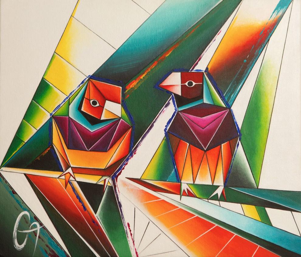 Alexandra Galakhova - Zhilo. 2 birds of Amadin