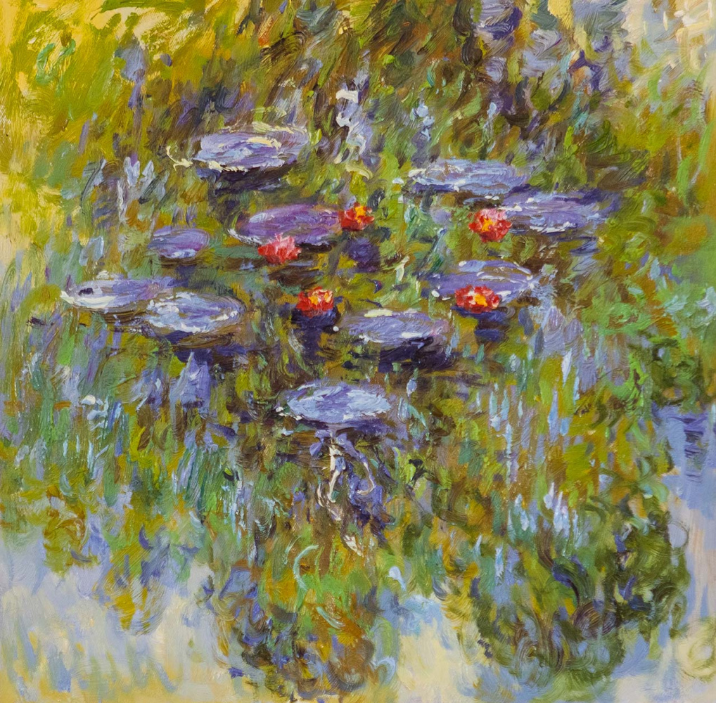 Savely Kamsky. Water Lilies, N28, a copy of Claude Monet's painting
