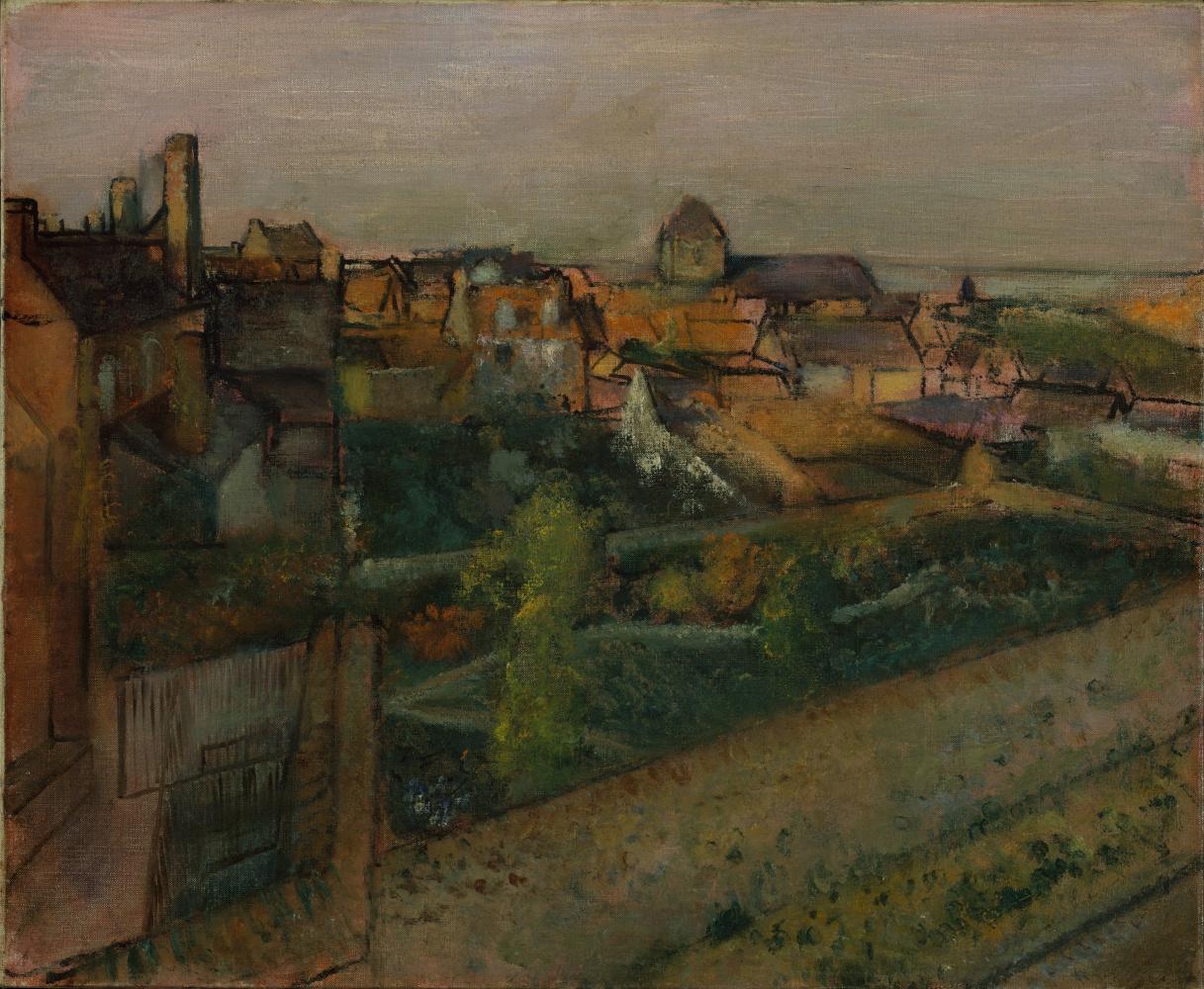 Edgar Degas. View of Saint-Valery-sur-Somme