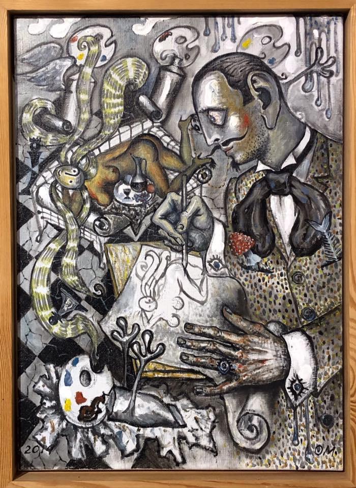 Oleg Mingalev. Artist at work