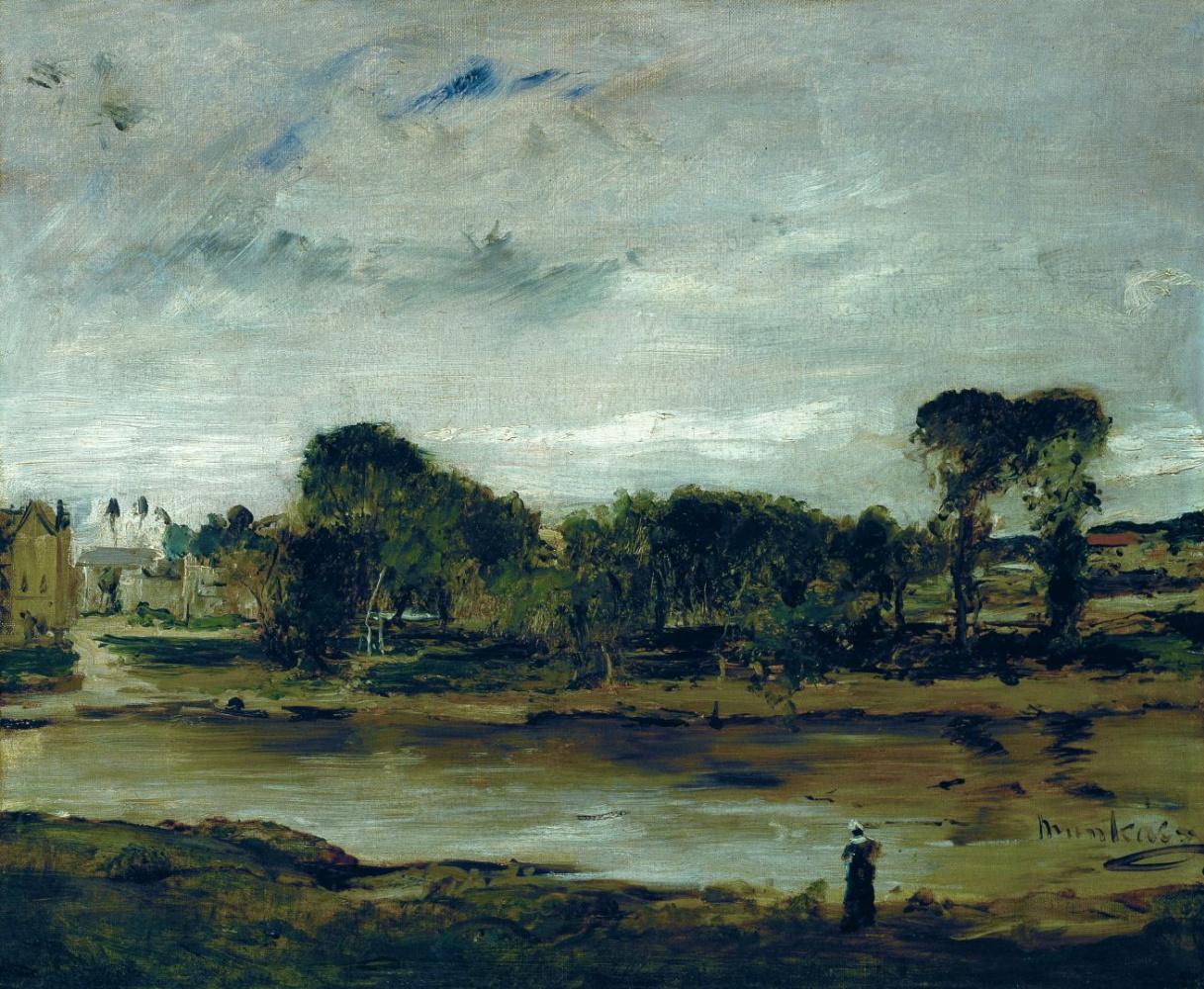 Михай Либ Мункачи. Пейзаж с рекой