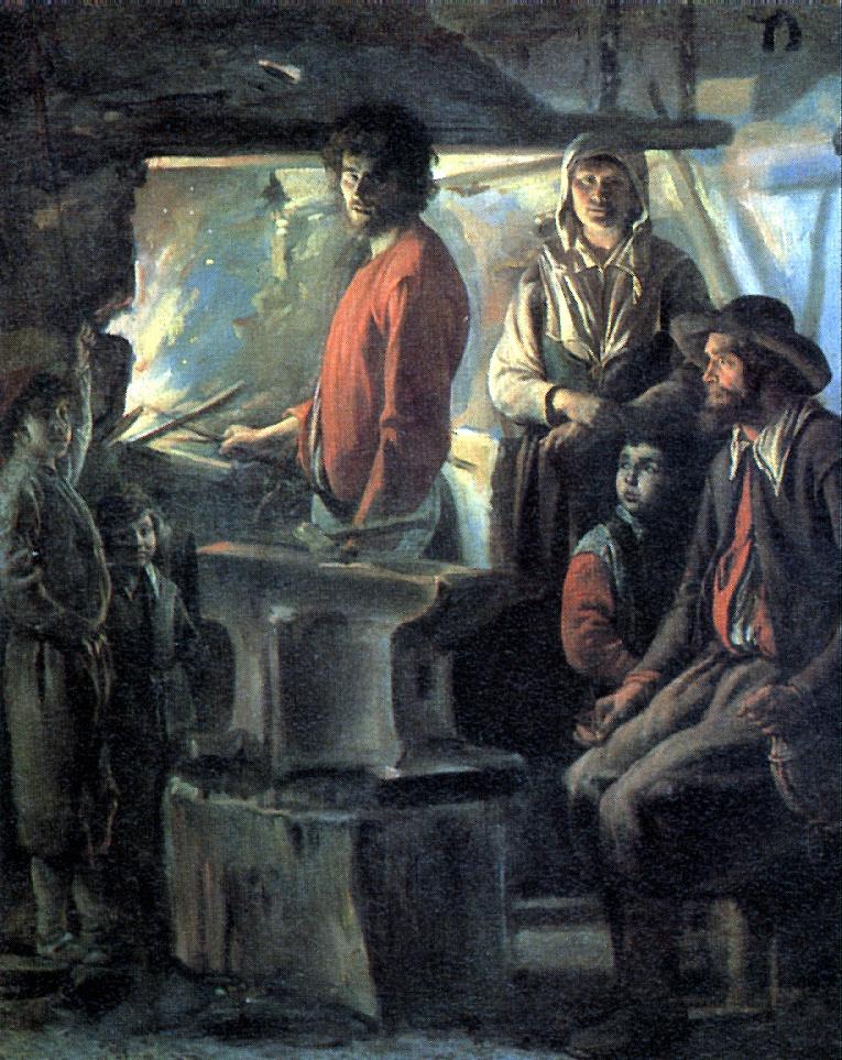Антуан, Луи и Матье Ленен. Кузница