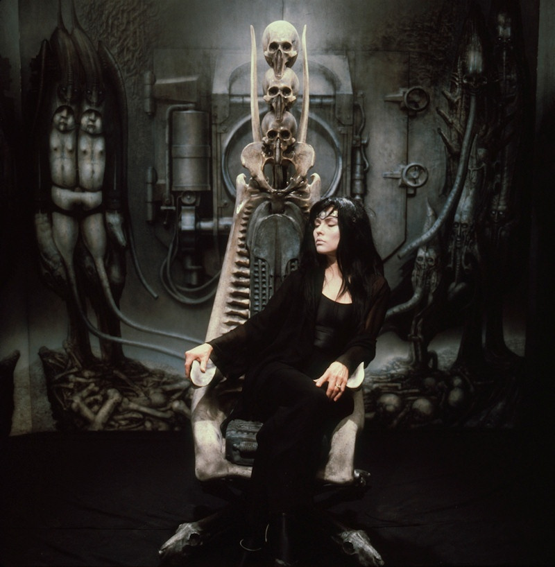 Hans Rudolph Giger. Debbie Harry in the chair by Giger