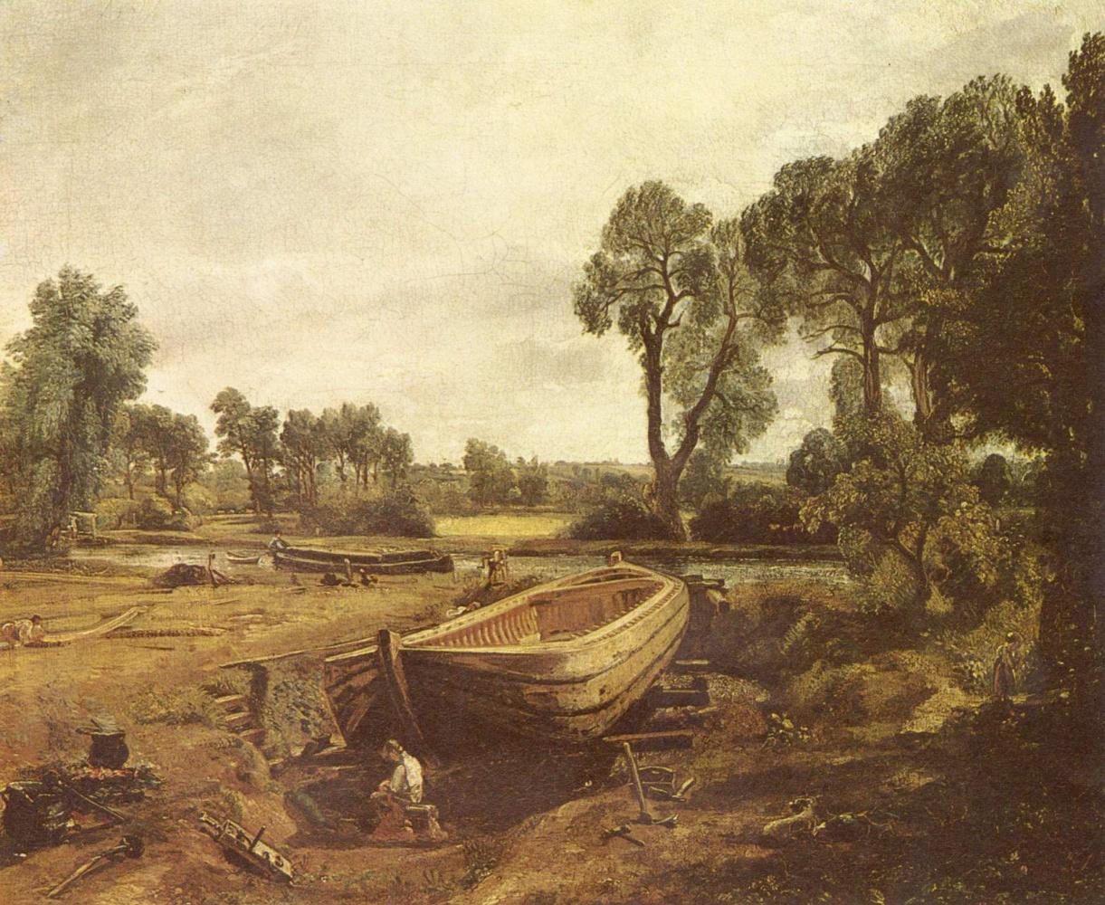 Джон Констебл. Строительство лодки во Флэтворде