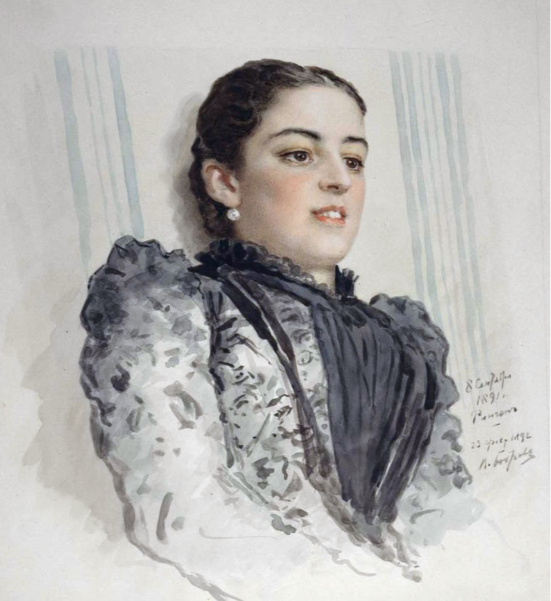 Victor Alekseevich Bobrov. Portrait of Julie Reitern. Simferopol Art Museum