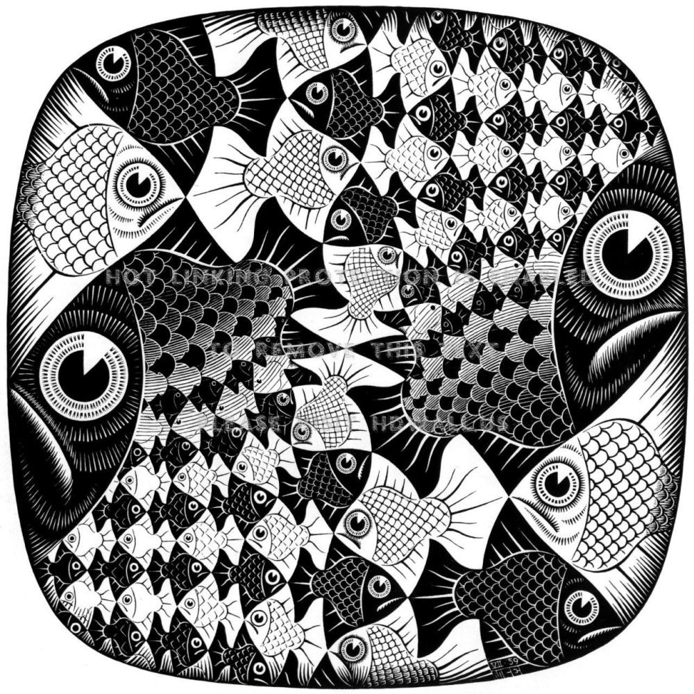 Maurits Cornelis Escher. Circle Limit II
