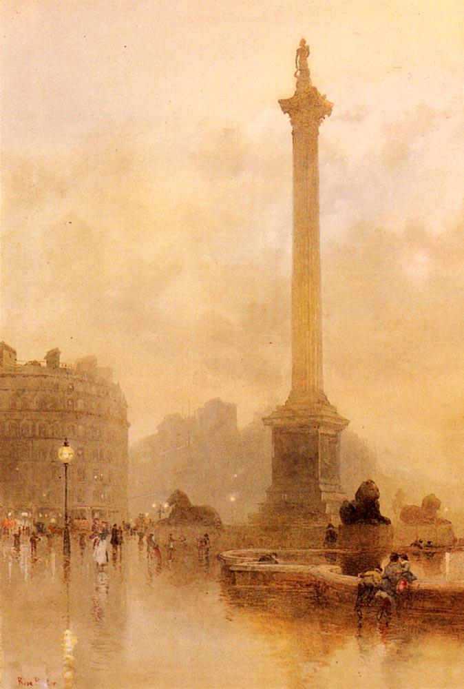 Rose Maynard Barton. Nelson's column in a fog
