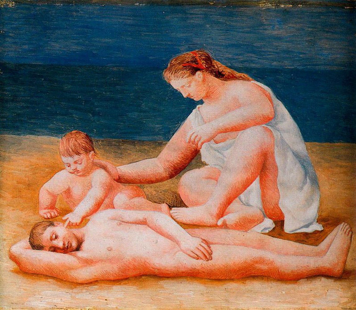 Pablo Picasso. Family at sea