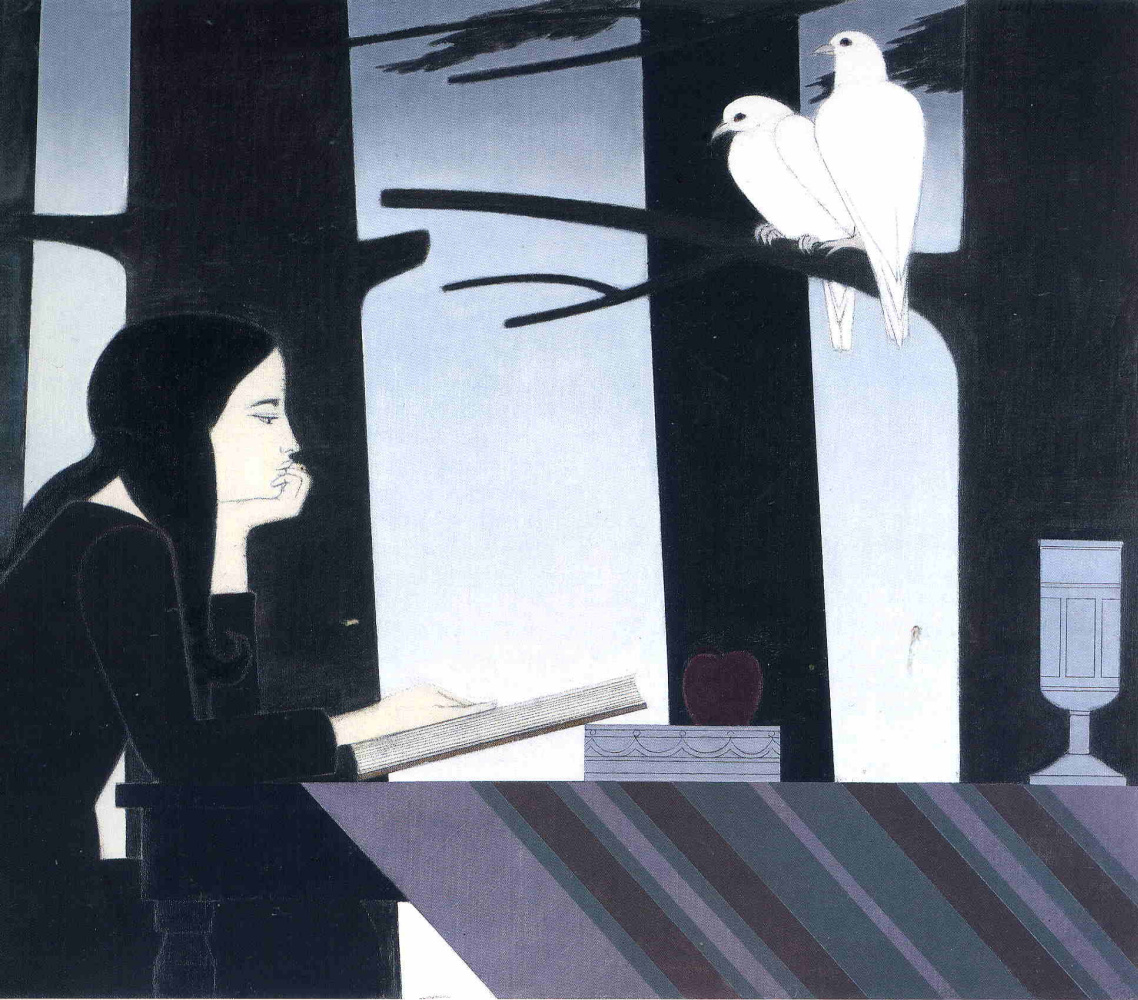 Will Barnet. White bird