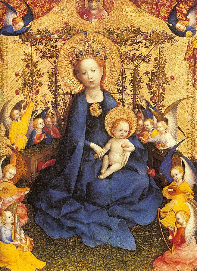Stefan Lochner. The Madonna and child