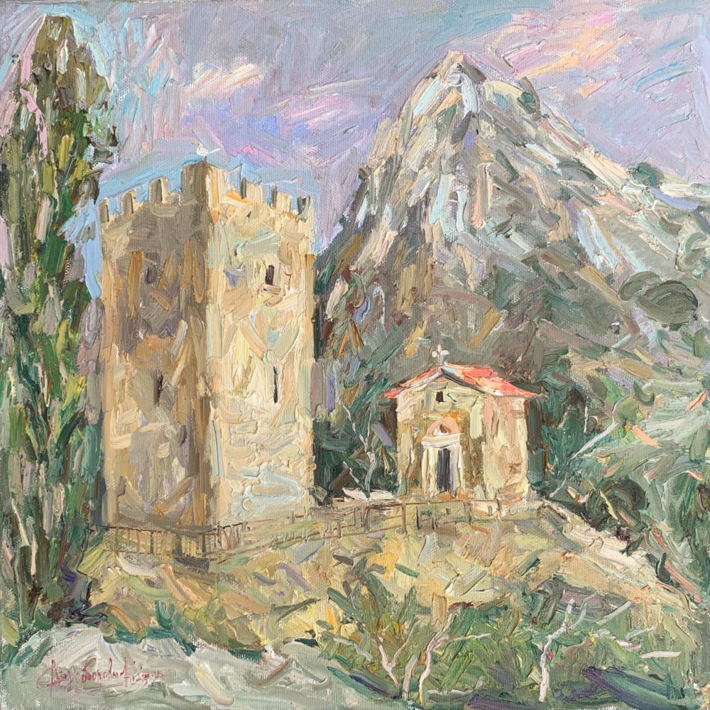 Alena Sukhoborova-Kazarina. Temple of the 12 Apostles. Genoese fortress, Sudak.
