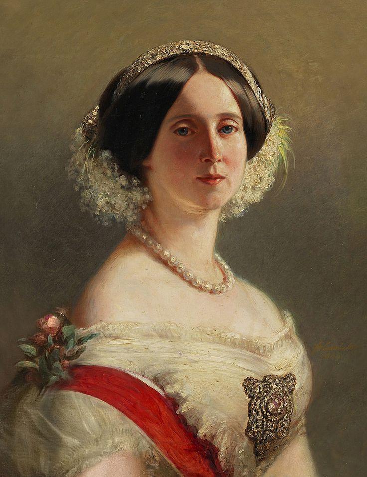 Франц Ксавер Винтерхальтер. Августа Саксен-Веймарская, принцесса Пруссии (1811-1890), позже королева Пруссии и немецкая императрица (утерянная версия)