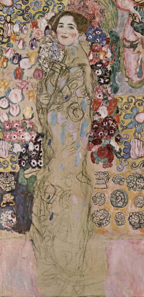 Gustav Klimt. Portrait of Maria Munk (unfinished)