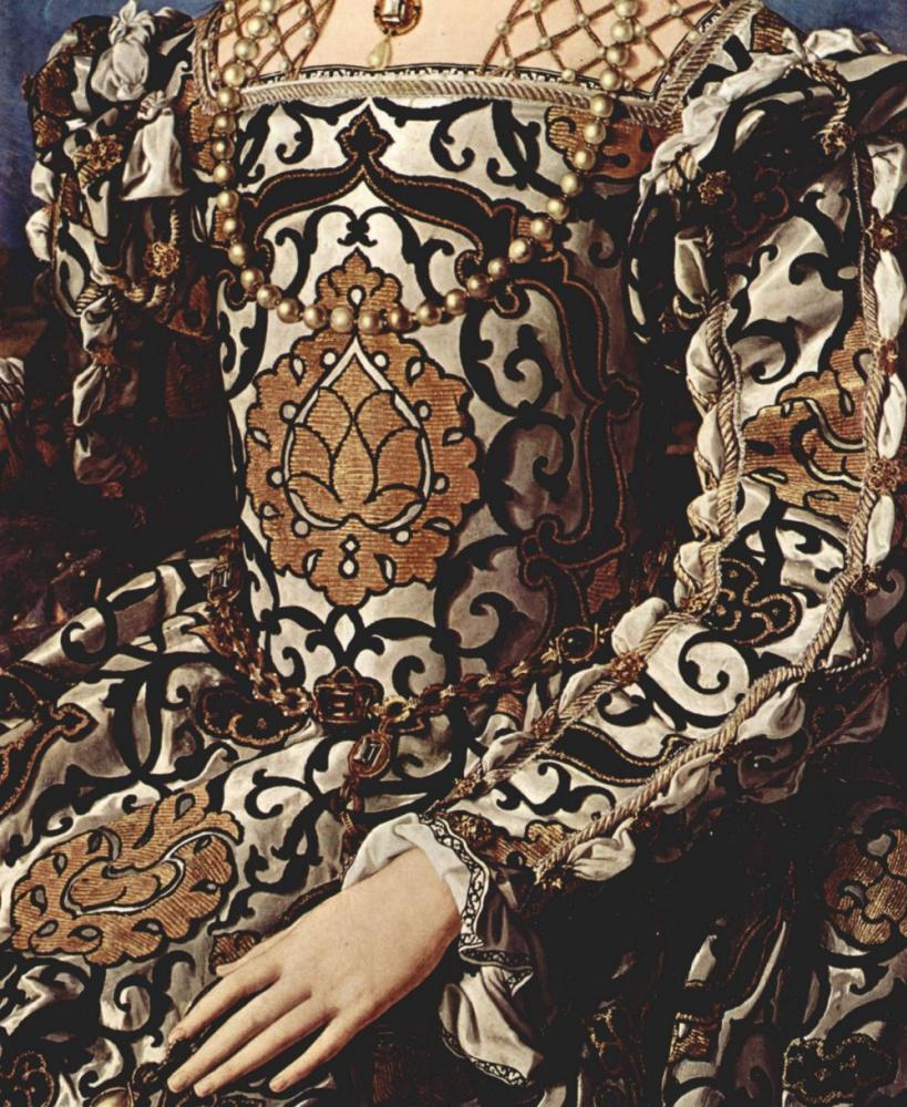 Аньоло Бронзино. Портрет Элеоноры Толедской с сыном Джованни, фрагмент