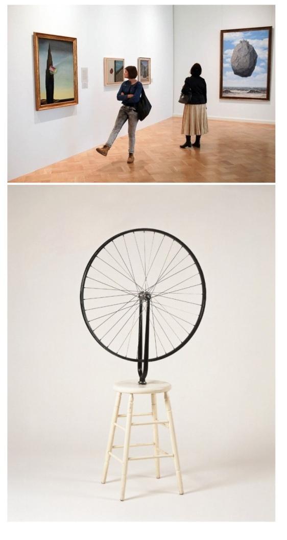 Дада, зайдите! В Эрмитаж прикатилось велосипедное колесо Марселя Дюшана и прилетела скала Магритта
