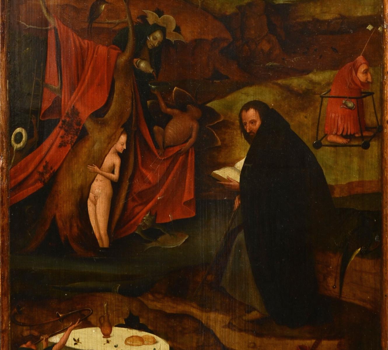 Ранняя копия триптиха «Искушение Святого Антония» Иеронима Босха на выставке в Киеве
