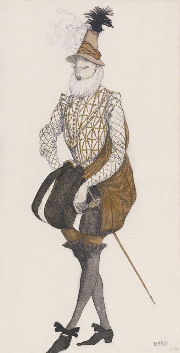 "Lev Samoilovich Bakst (Leon Bakst). The Spanish Prince. Costume design for the ballet ""the Sleeping Princess"""