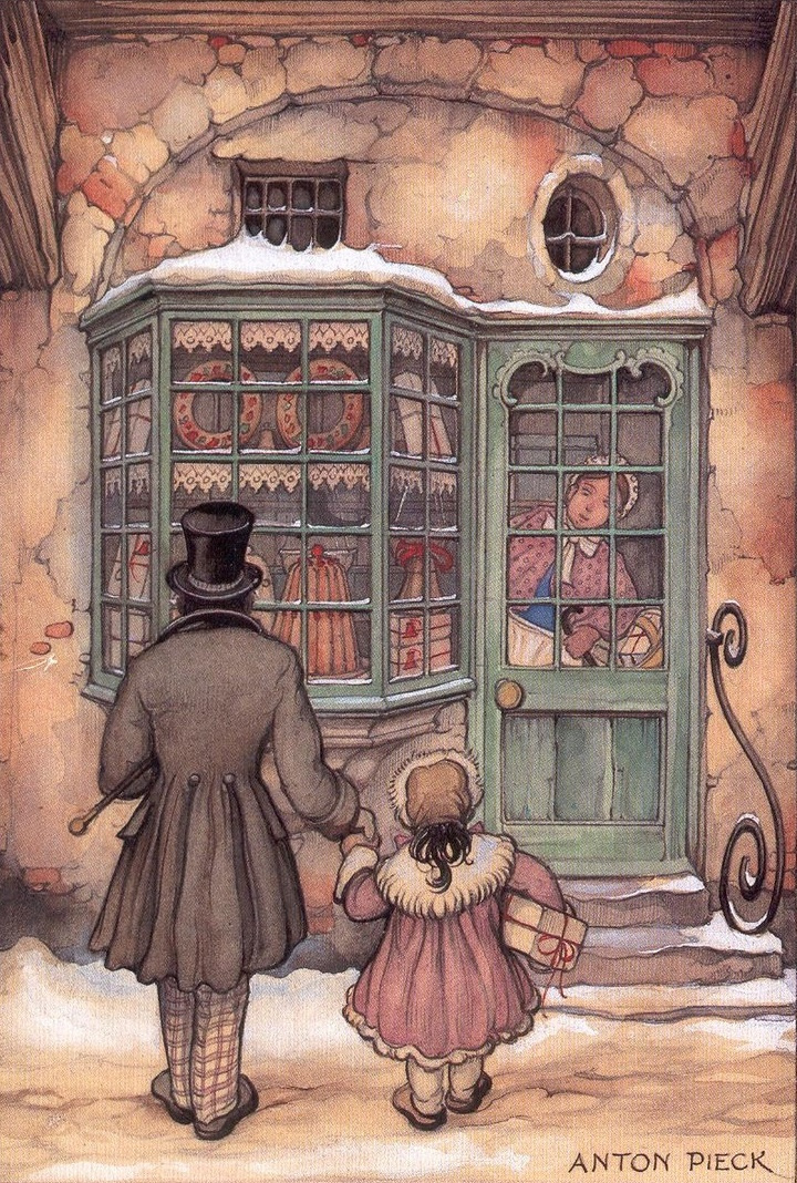 Anton Pieck. At the candy shop