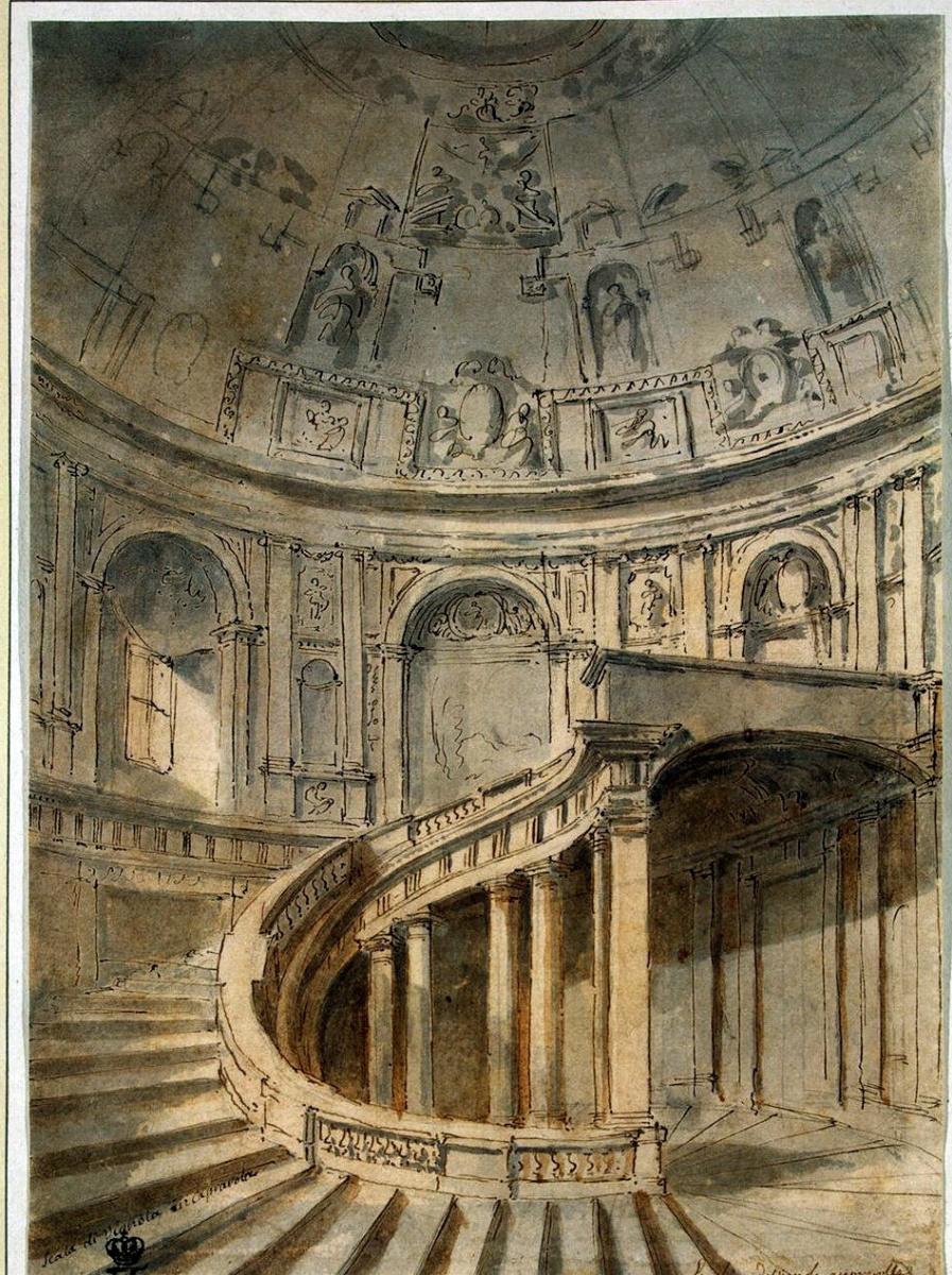 Шарль-Луи Клериссо. Лестница дворца Фарнезе в Капрароле