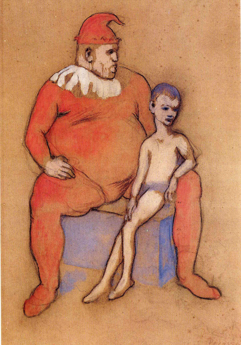 Пабло Пикассо. Юный акробат и клоун