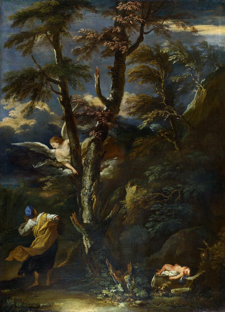 Сальватор Роза После. Ангел явился Агари и Измаилу в пустыне