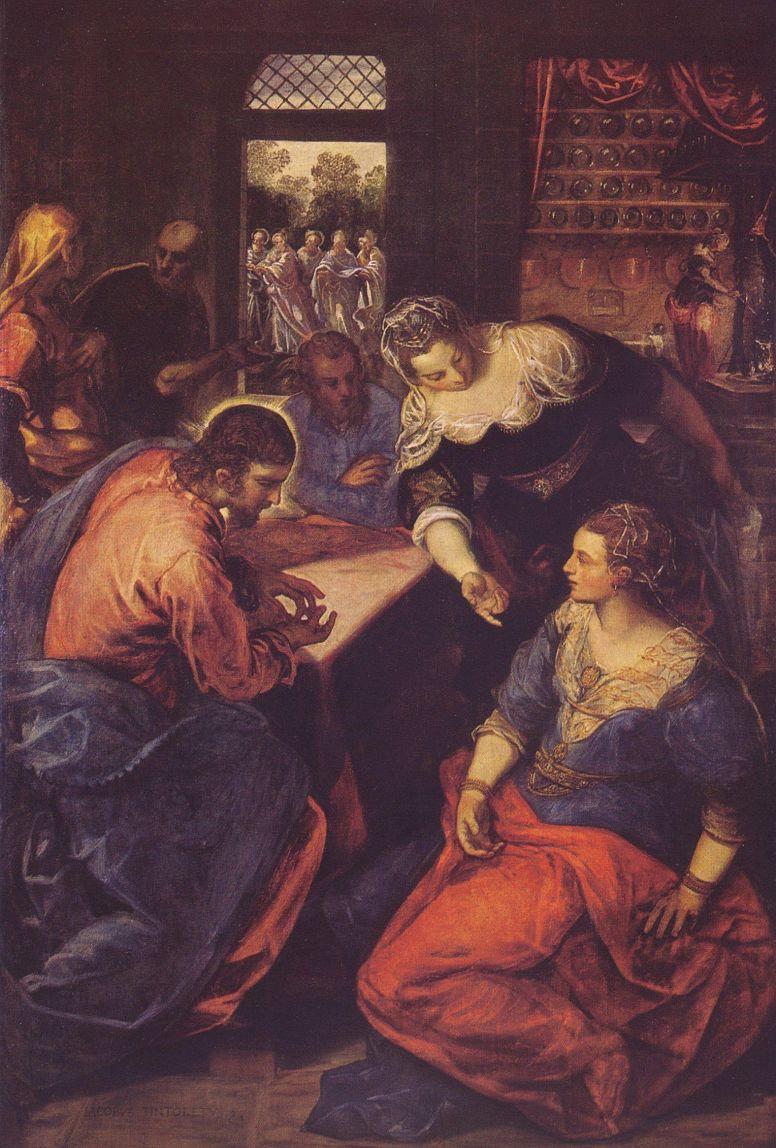 Якопо Тинторетто. Христос с Марфой и Марией