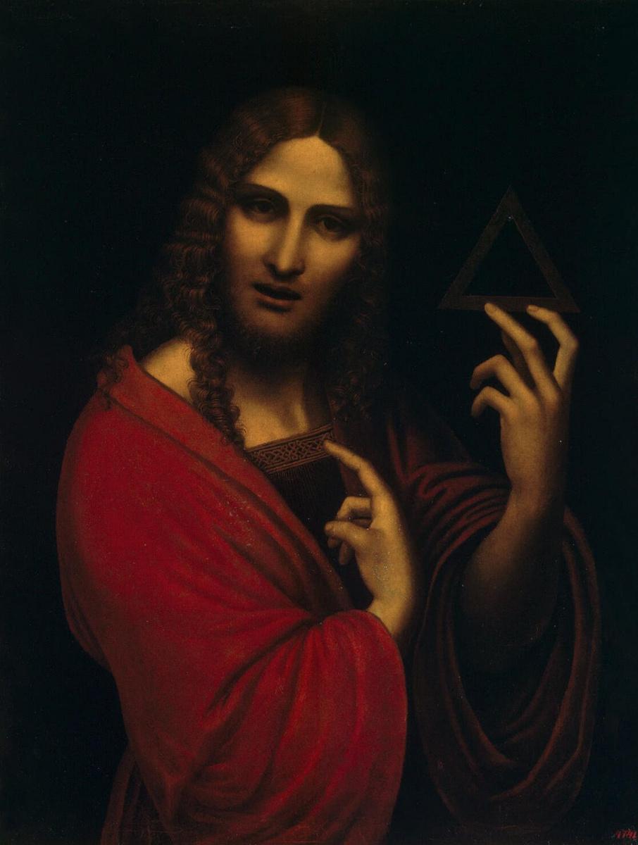 Джампетрино. Христос с символом Троицы