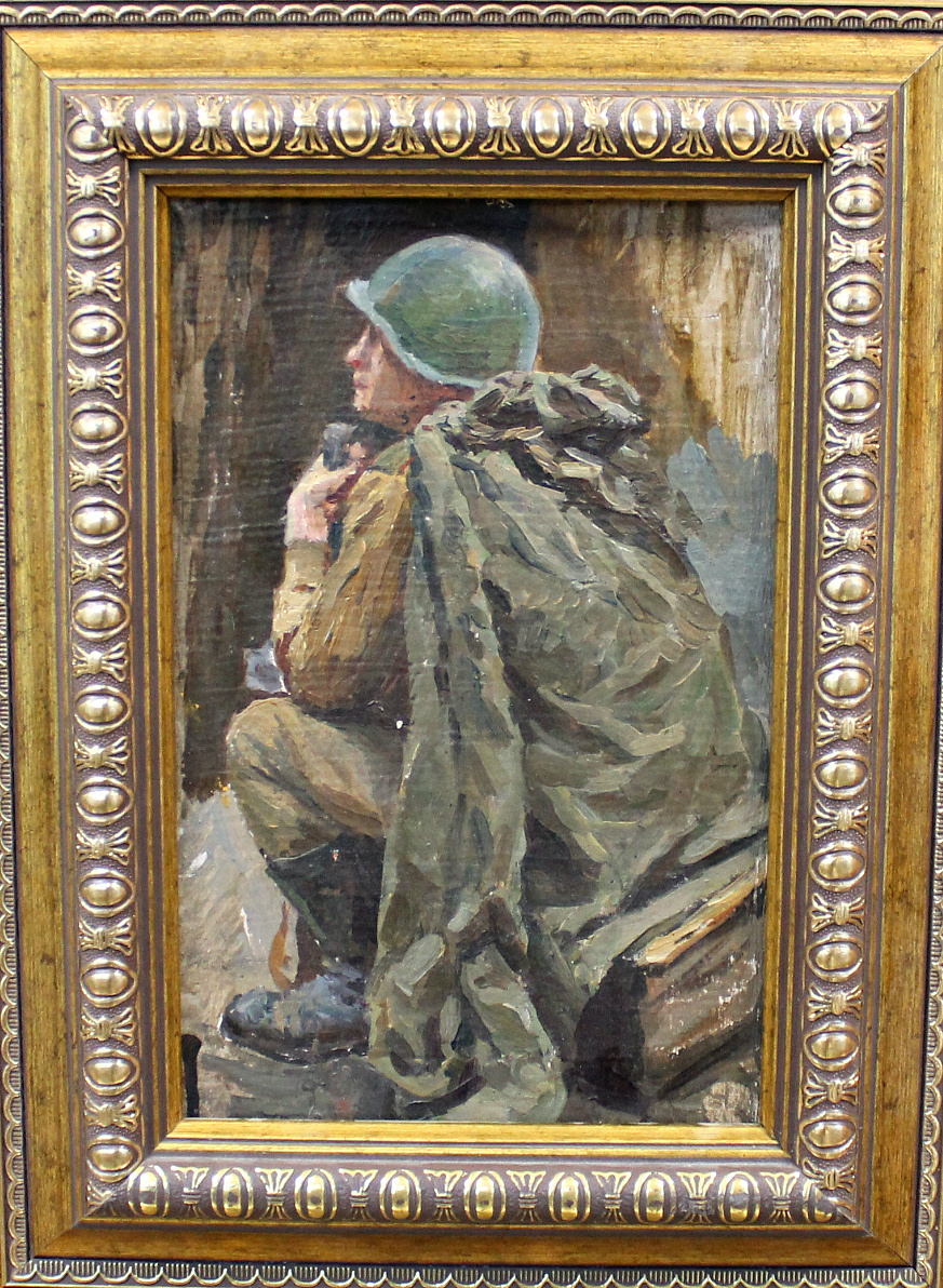 Orest Georgievich Betekhtin. Seated soldier