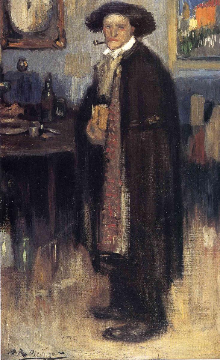 Пабло Пикассо. Мужчина в испанском плаще