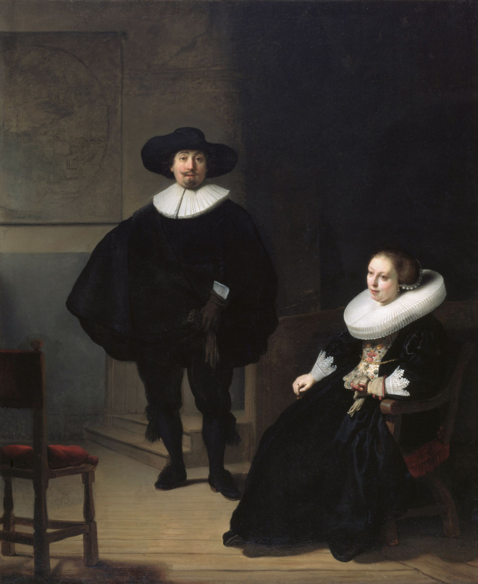 Rembrandt Harmenszoon van Rijn. The Lord and lady in black