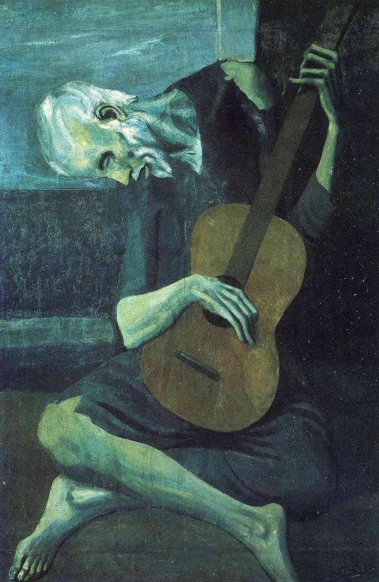 Пабло Пикассо. Игра на гитаре