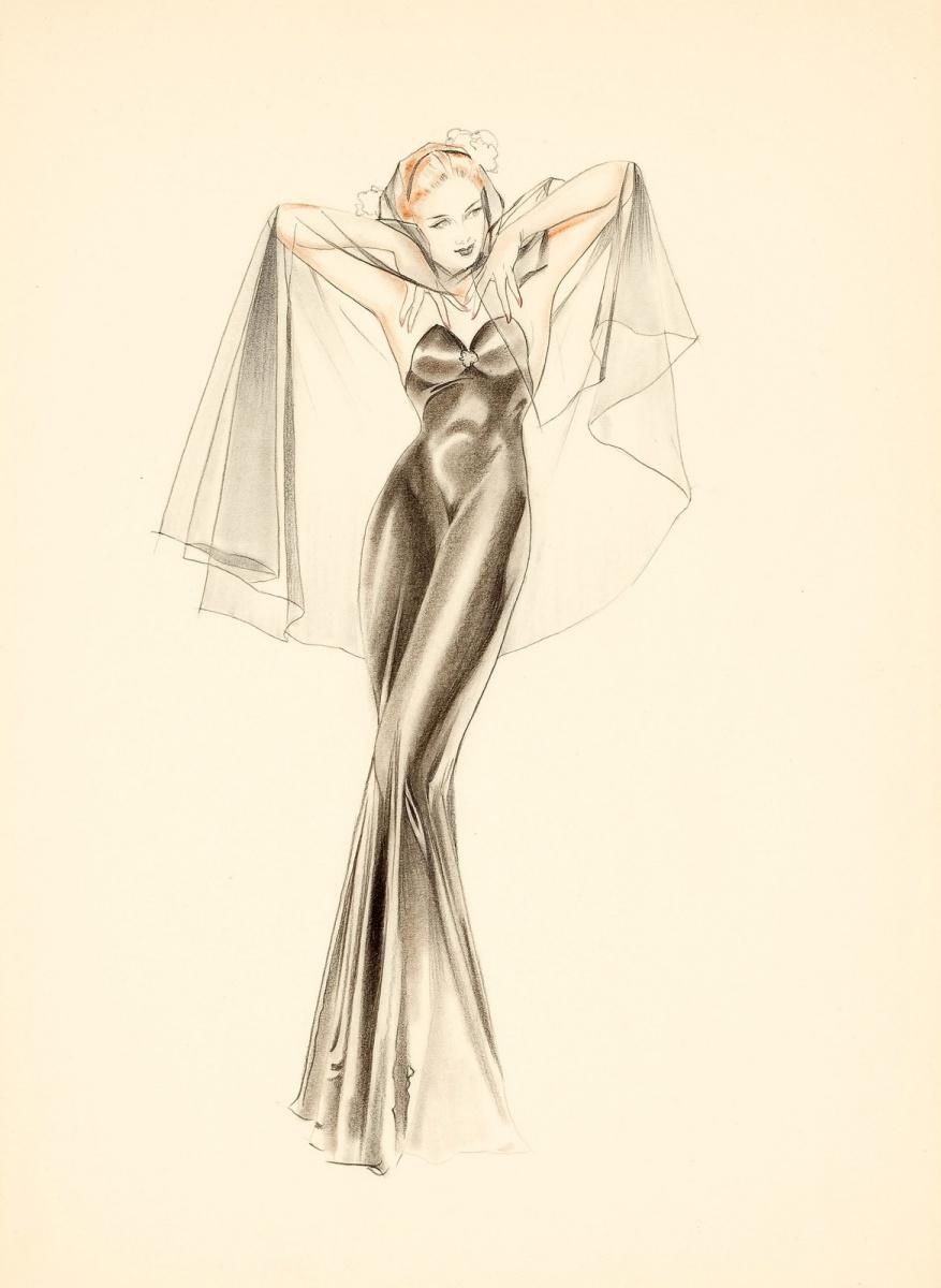 Альберто Варгас. Вечернее платье.