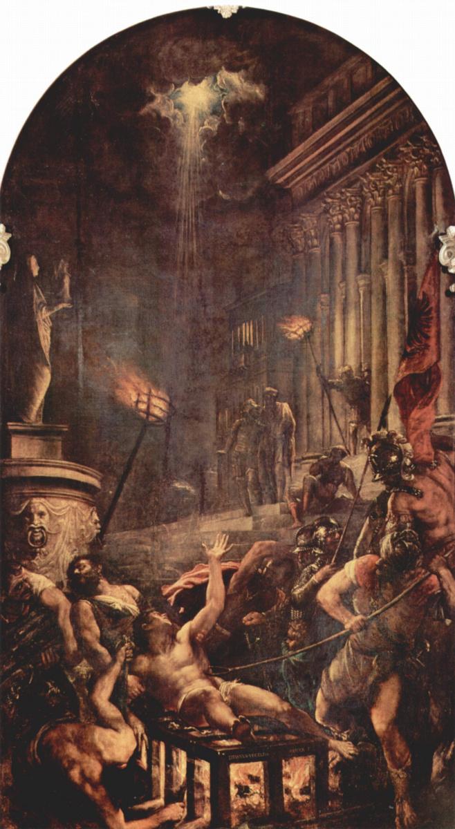 Тициан Вечеллио. Мученичество святого Лаврентия