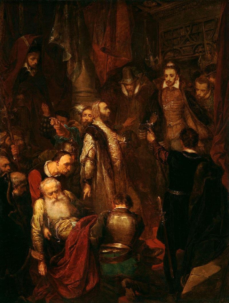 Ян Матейко. Убийство Ваповски во время коронации Генриха Валуа